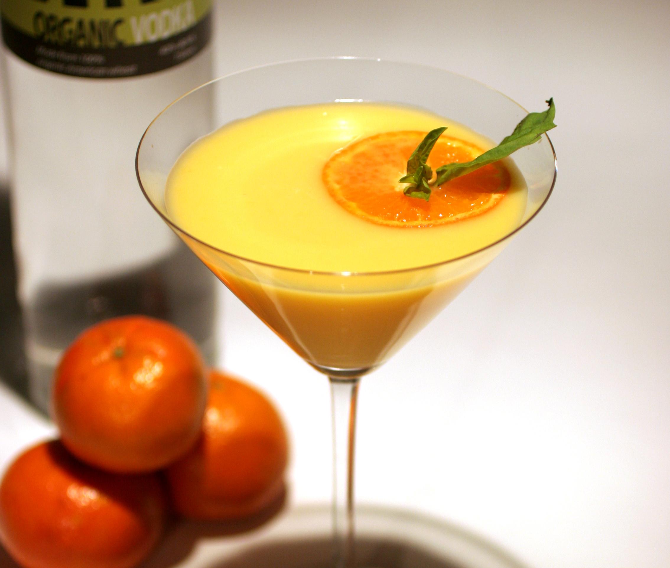Mandalinalı Kekikli Martini Kokteyl